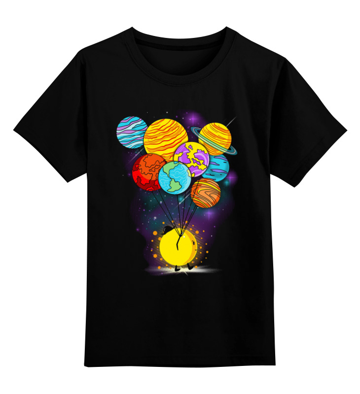 Детская футболка Printio Космический юмор цв.черный р.104 0000003220514 по цене 990