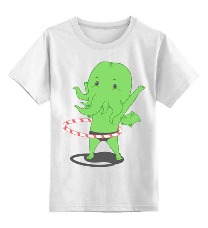 Детская футболка Printio Ктулху цв.белый р.104 0000003259341 по цене 790