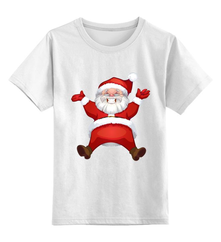 Купить 0000003062575, Детская футболка Printio Дед мороз цв.белый р.164,