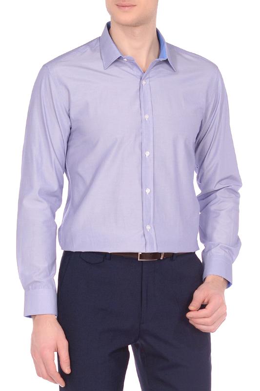 Рубашка мужская KarFlorens 7644 голубая S