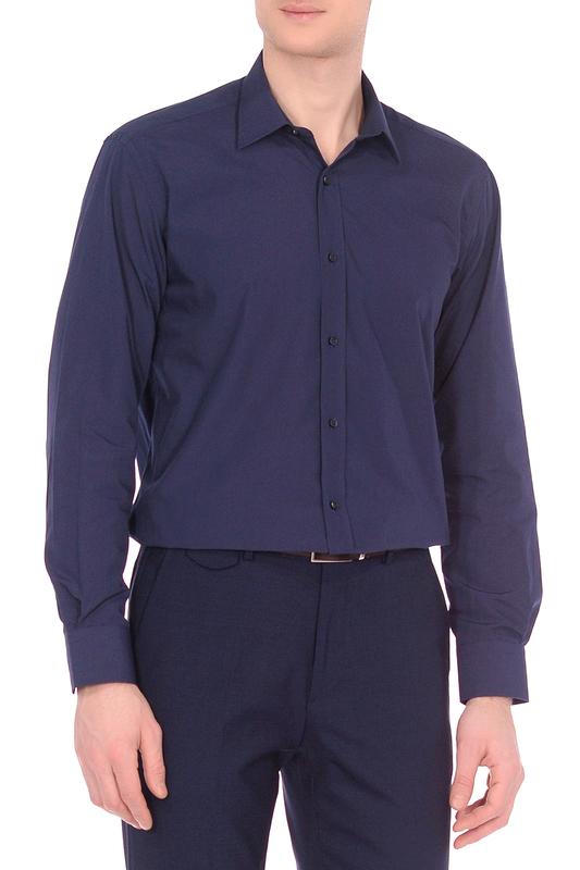 Рубашка мужская KarFlorens LCY синяя M