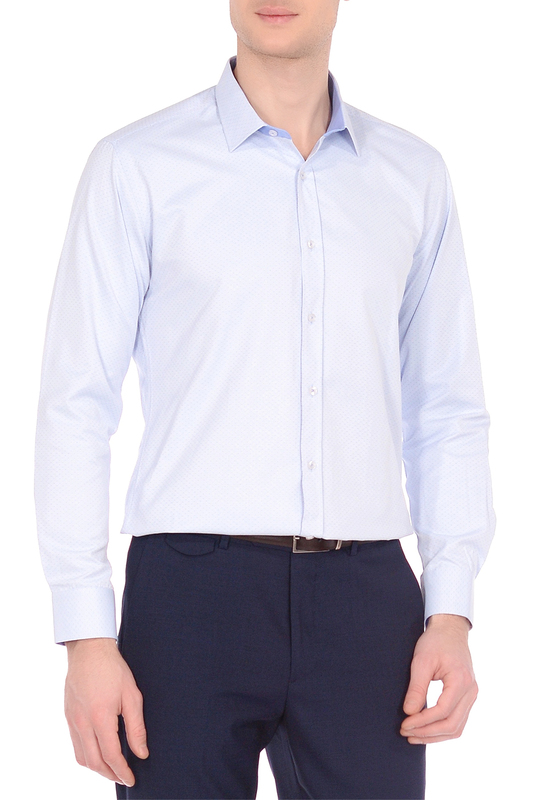 Рубашка мужская KarFlorens MIM7 голубая M