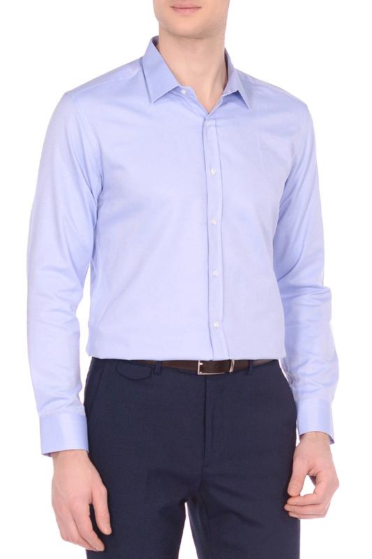 Рубашка мужская KarFlorens OXF-01 голубая S