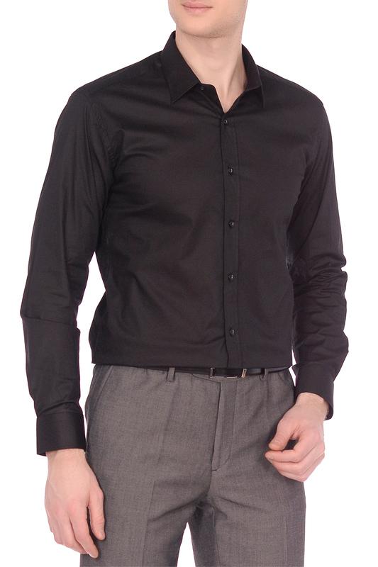 Рубашка мужская KarFlorens POPL черная L