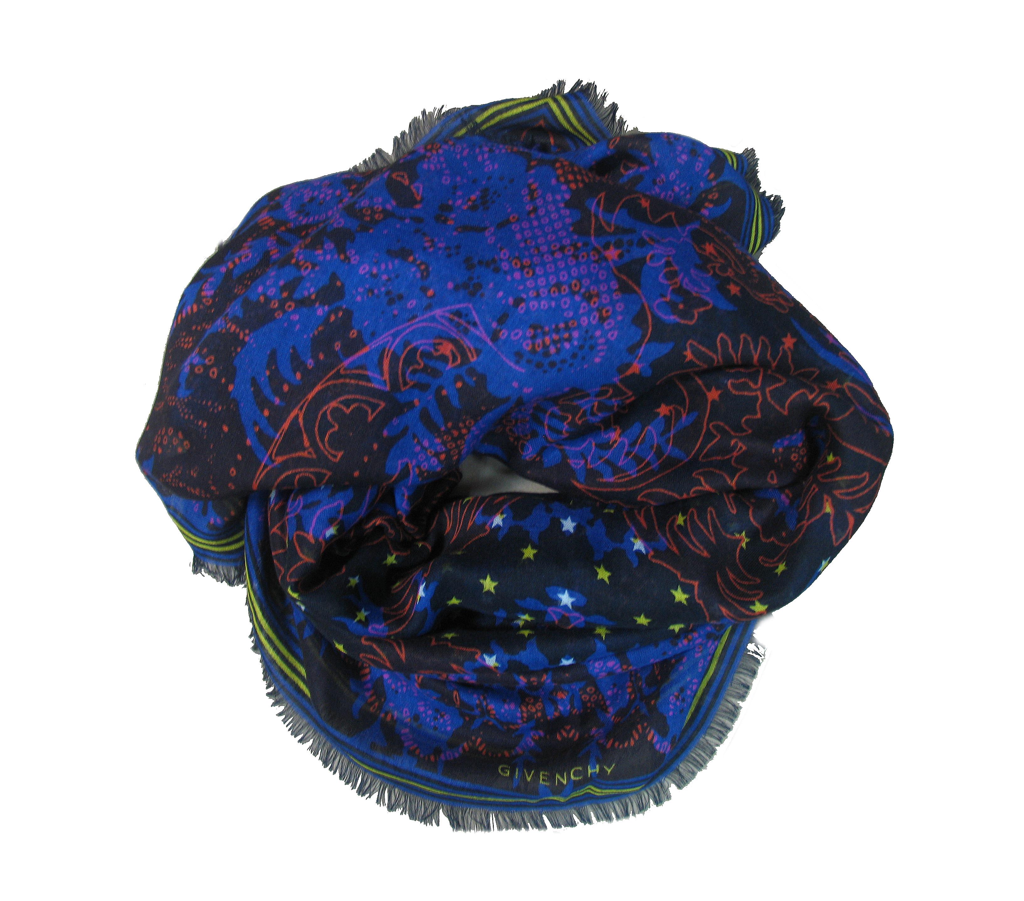 Палантин женский Givenchy M11420001-GV темно-синий/черный, 140*200 см