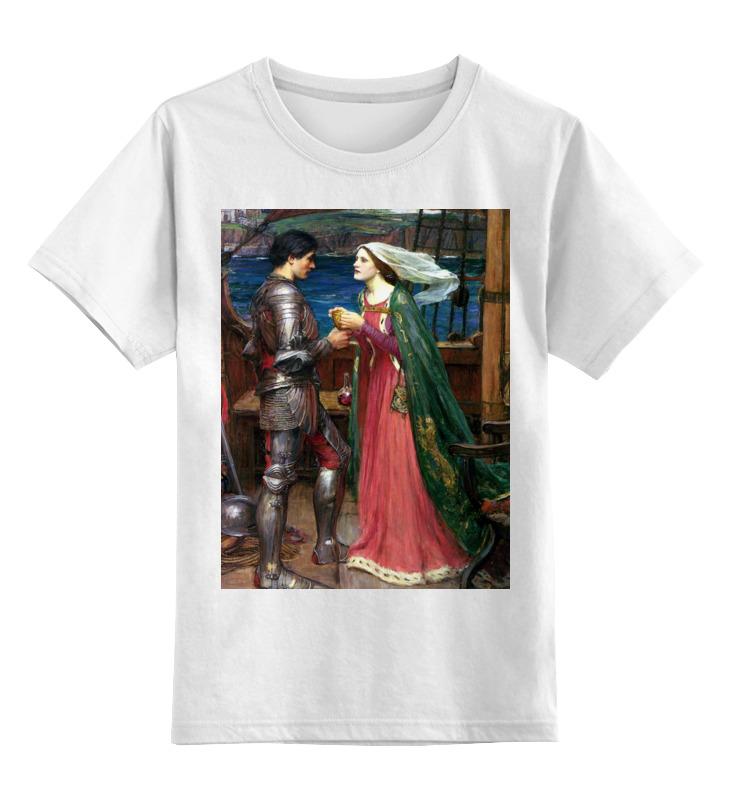 Купить 0000003150148, Детская футболка Printio Тристан и изольда с ядом цв.белый р.164,