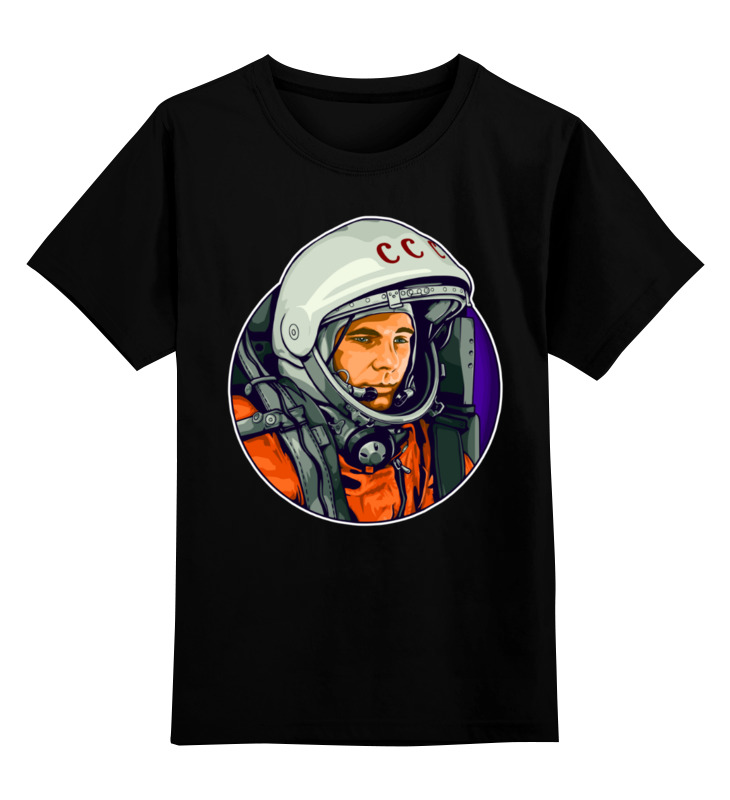 Детская футболка Printio Гагарин цв.черный р.164 0000003207916 по цене 990