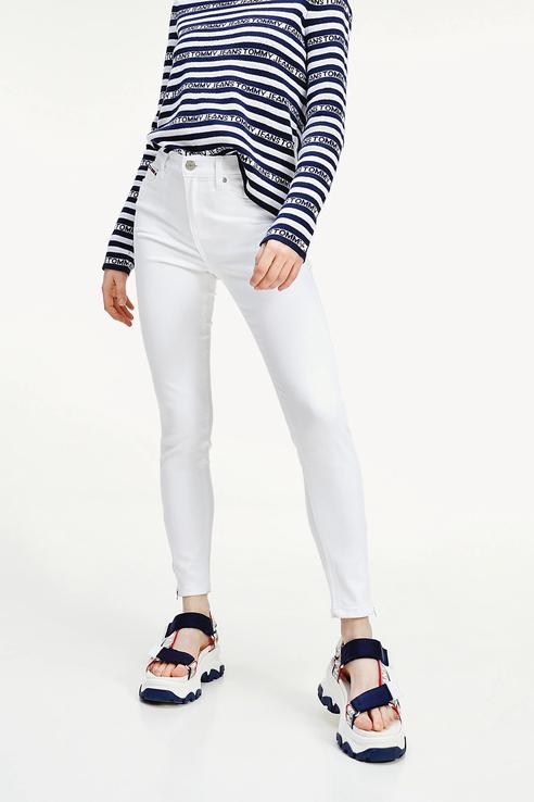 Джинсы женские Tommy Jeans DW0DW08085 белые 28/32