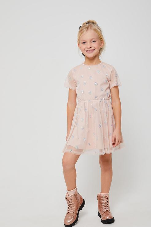 Купить 812040705, Платье для девочек Sela цв. розовый р-р. 98,