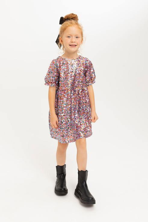 Купить 812040717, Платье для девочек Sela цв. разноцветный р-р. 104,