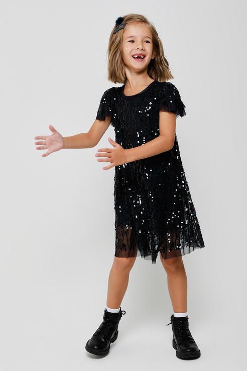 Купить 8120407190, Платье для девочек Sela цв. синий р-р. 104,