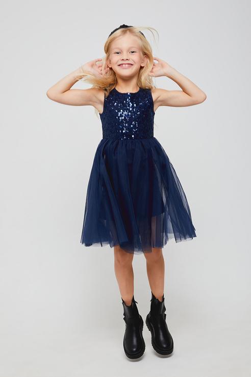 Купить 8120407600, Платье для девочек Sela цв. синий р-р. 98,