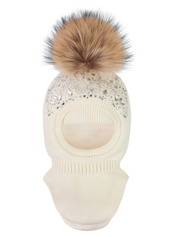 Купить Шапка-шлем ALEKSA, арт. sh-kh-2, р-р L (56-58), цв. молочный,