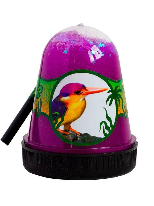 Слайм с белыми звездочками Jungle (птичка Зимородок), 130 грамм Фабрика игрушек S300-28