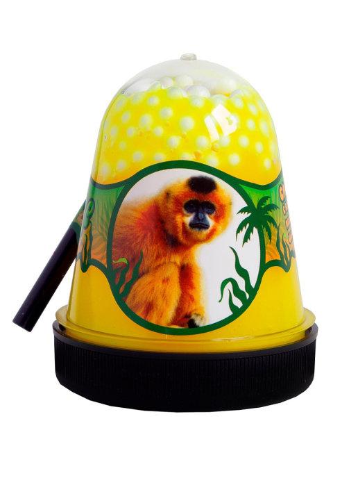 Слайм с белыми пенопластовыми шариками Jungle Обезьянка, 130 г Фабрика игрушек S300-30