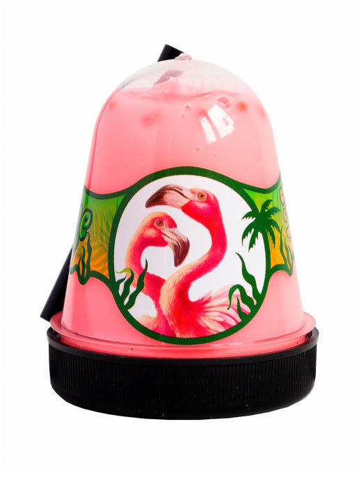 Слайм с розовым фишболом Jungle (Фламинго), 130 грамм Фабрика игрушек S300-29