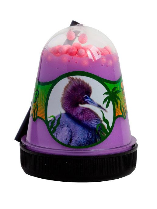 Слайм с розовыми пенопластовыми шариками Jungle (Цапля), 130 грамм Фабрика игрушек S300-31