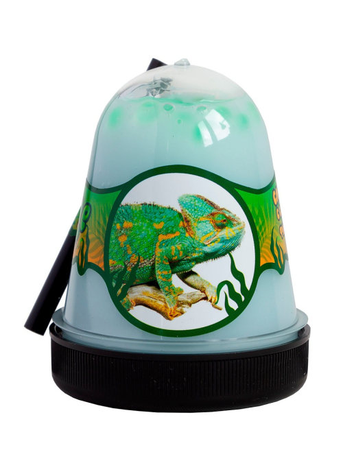 Слайм с салатовым фишболом Jungle (Хамелеон), 130 грамм Фабрика игрушек S300-32