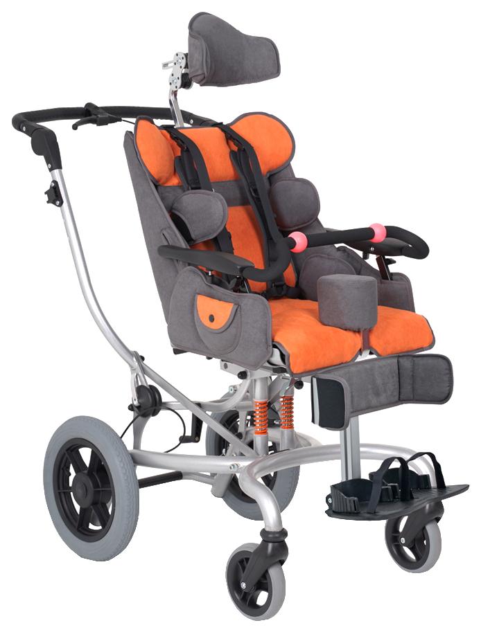 Купить Кресло-коляска для детей с ДЦП Fumagalli Mitico Simple Fuori (оранжевый, размер P)