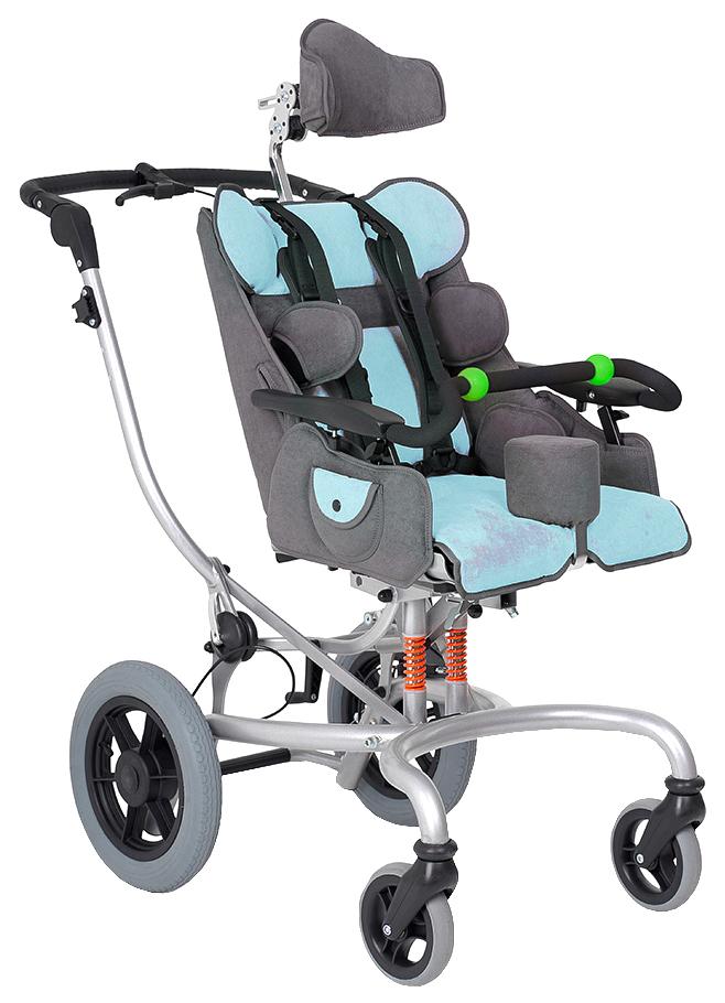 Купить Кресло-коляска для детей с ДЦП Fumagalli Mitico Simple Fuori (голубой, размер P)