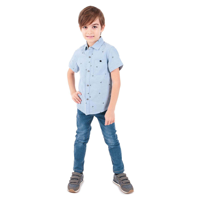 Рубашка детская Fun Time SS20AL01/jeans р.110