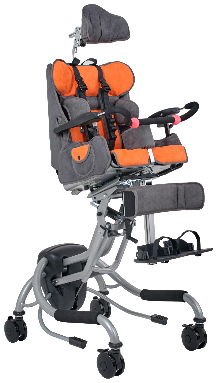 Кресло-коляска для детей с ДЦП Fumagalli Mitico Simple High-low размер M оранжевый  - купить со скидкой