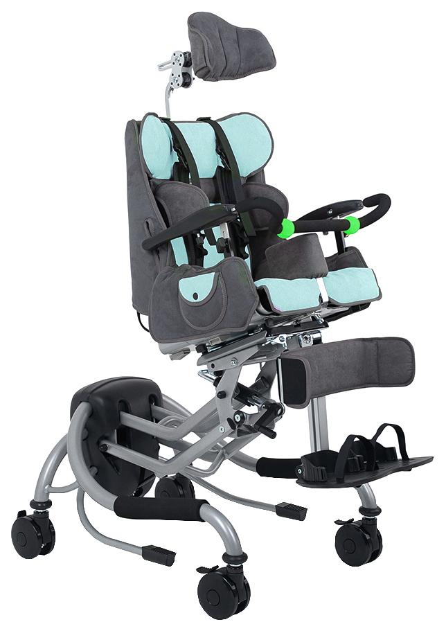 Купить Кресло-коляска для детей с ДЦП Fumagalli Mitico Simple High-low (размер M голубой)