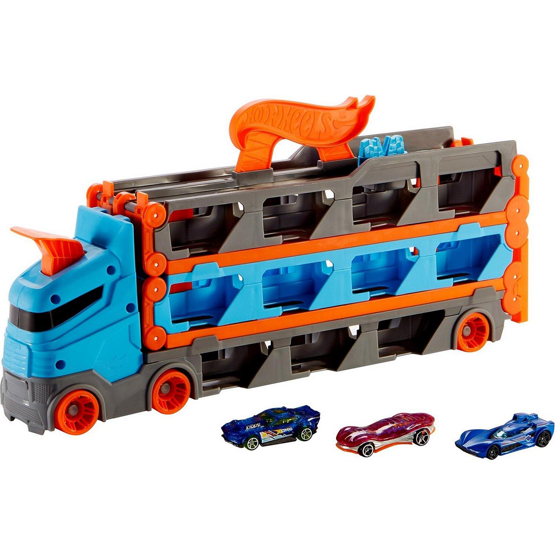 Купить Автотрек Hot Wheels Скоростная автотрасса, с хранилищем для машинок,