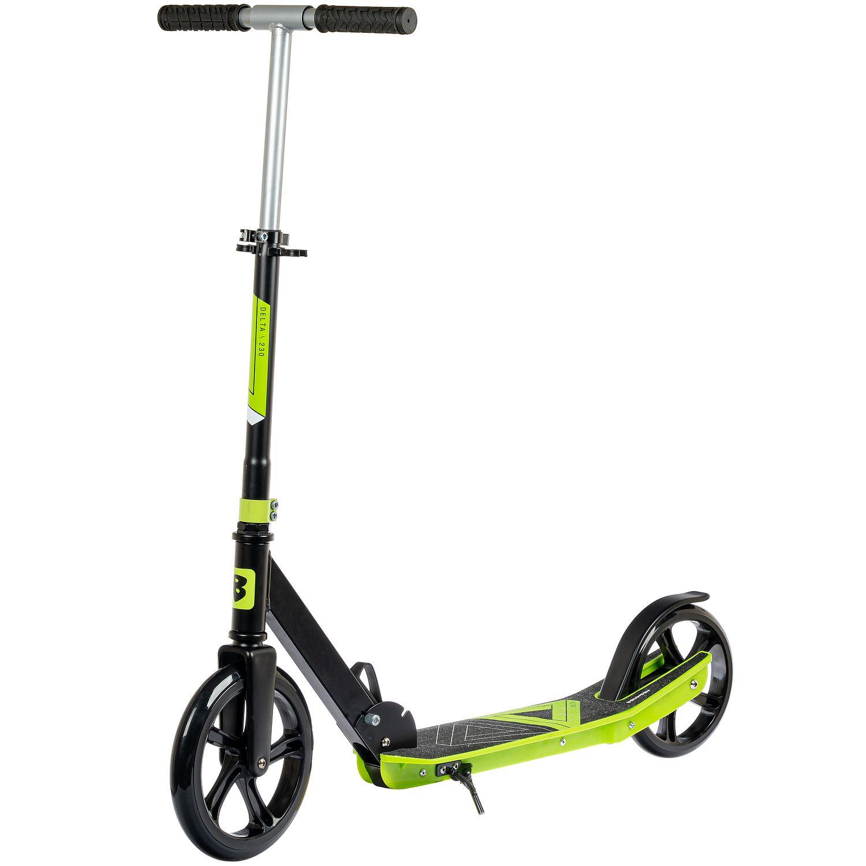 Купить Самокат детский Bondibon Delta, складной, колеса PU 230/200 мм, зеленый,