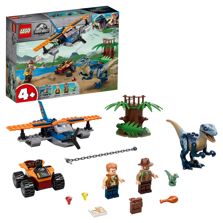Купить Конструктор LEGO LEGO® Jurassic World™ 75942 Велоцираптор: спасение на биплане,
