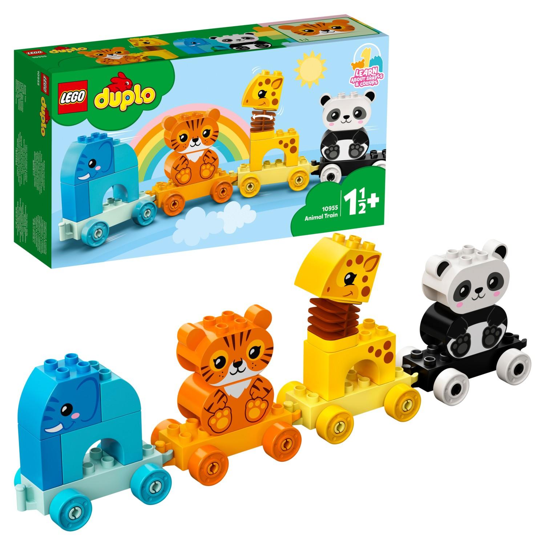 Купить Конструктор LEGO DUPLO Creative Play 10955 Мой первый поезд для зверей,