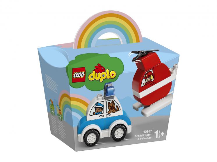 Купить Конструктор LEGO DUPLO Creative Play Мой первый пожарный вертолет и полицейский автомобиль,