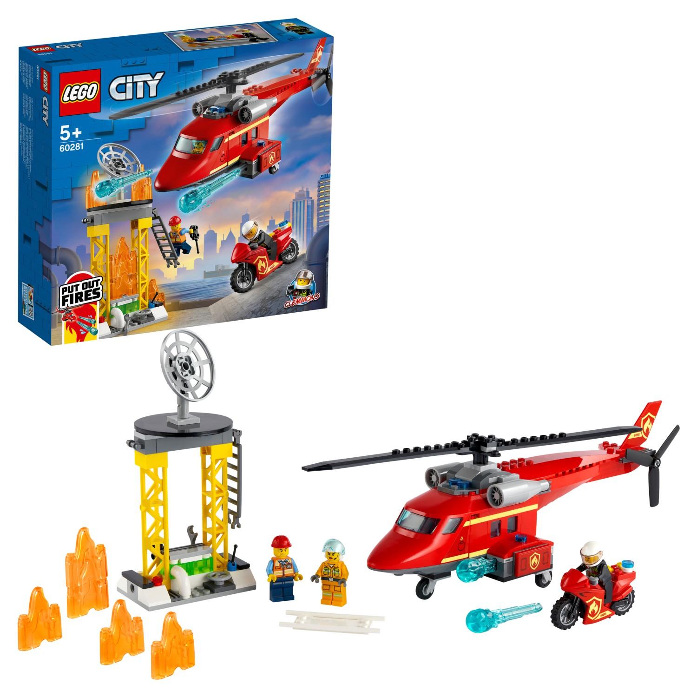 Купить Конструктор LEGO City Fire 60281 Спасательный пожарный вертолёт,