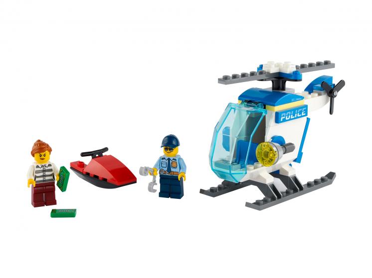 Конструктор LEGO City Police 60275 Полицейский вертолёт,  - купить со скидкой