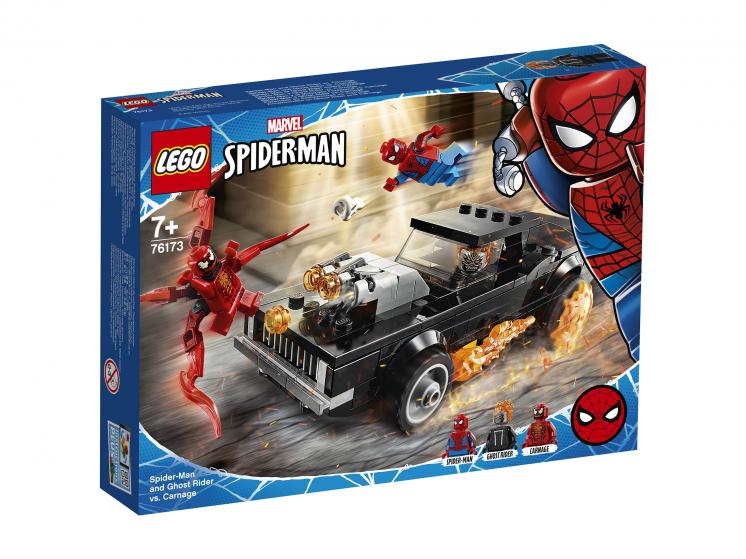 Купить Конструктор LEGO Marvel Super Heroes 76173 Человек-Паук и Призрачный Гонщик против Карнажа,