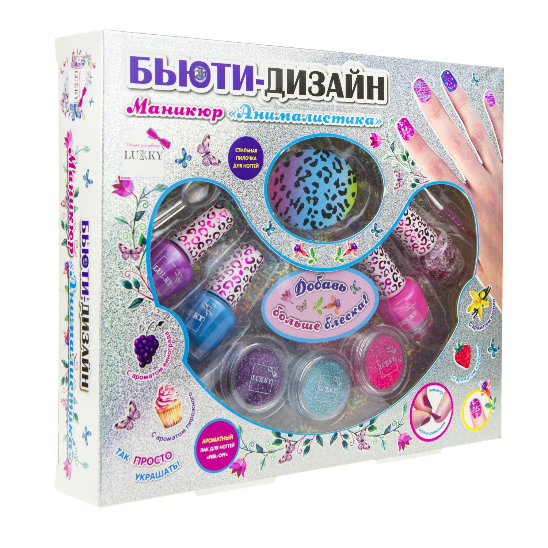 Купить Набор детской косметики Lukky Бьюти-Дизайн, Анималистика, лак для ногтей, 4 шт,