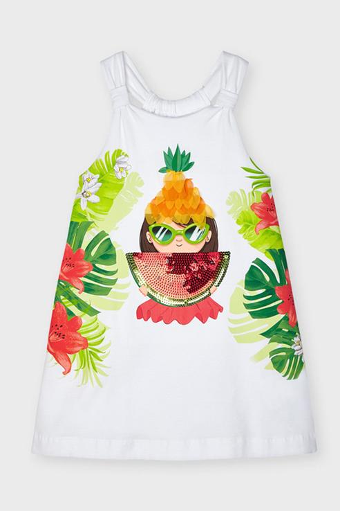 Купить 3955/21, Платье для девочек Mayoral цв. белый р-р. 116,