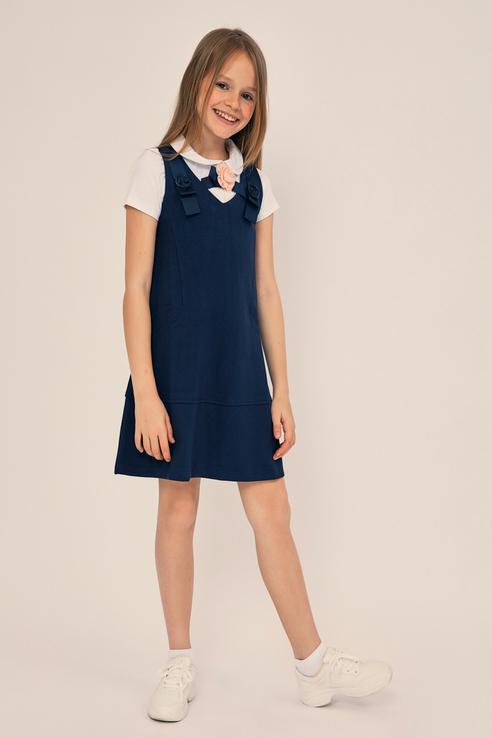 Купить 9328031531D, Платье для девочек ZARINA цв. синий р-р. 128,