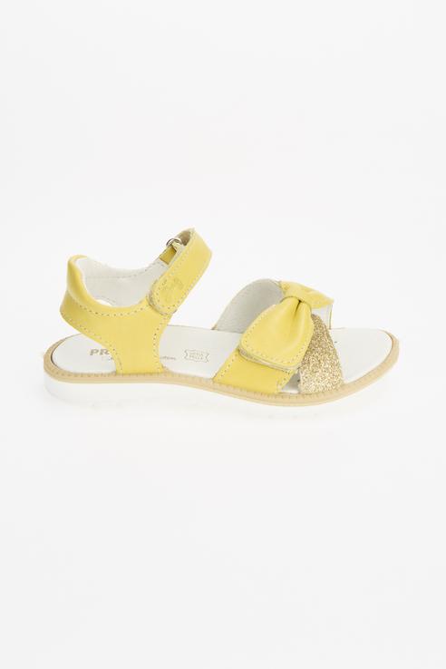 Купить 7392011, Сандалии для девочек PRIMIGI цв. желтый р-р. 34,