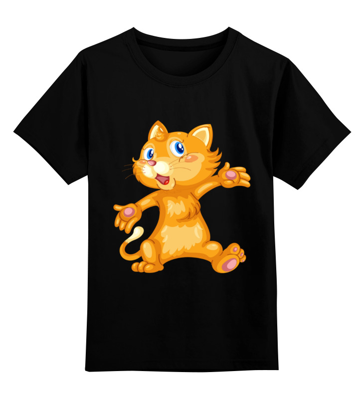 Купить 0000003323241, Детская футболка классическая унисекс Printio Рыжий кот,