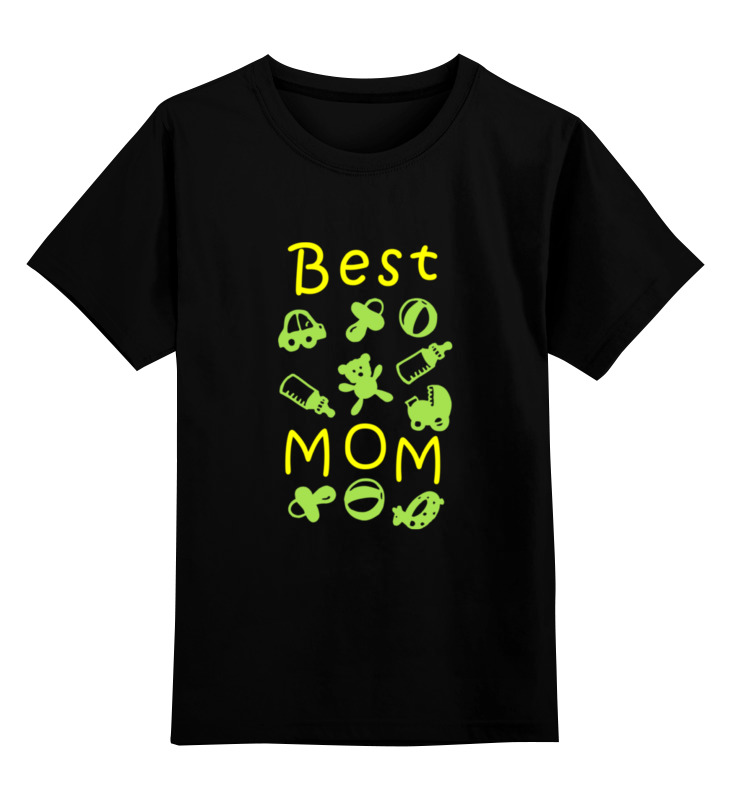 Купить 0000000657235, Детская футболка классическая Printio Best mom, р. 104,