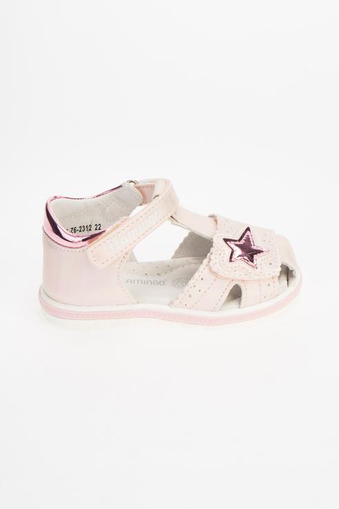 Купить 211S-Z6-2312, Сандалии для девочек Flamingo цв. розовый р-р. 25,