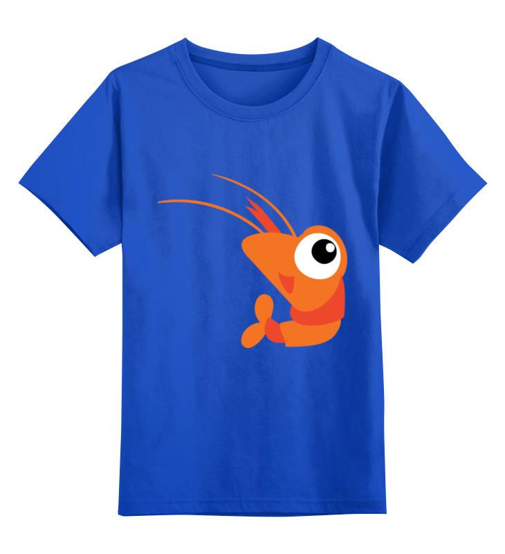 Детская футболка Printio Креветка цв.синий р.140 0000003395104 по цене 990