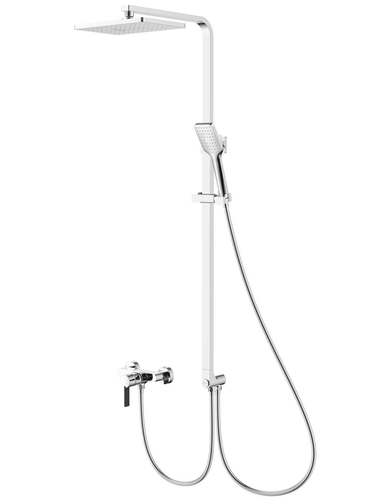 Душевой гарнитур с верхним душем и