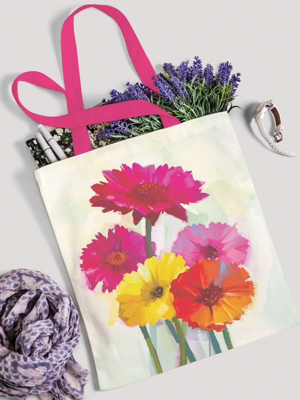 Сумка женская JoyArty Цветочная картина маслом