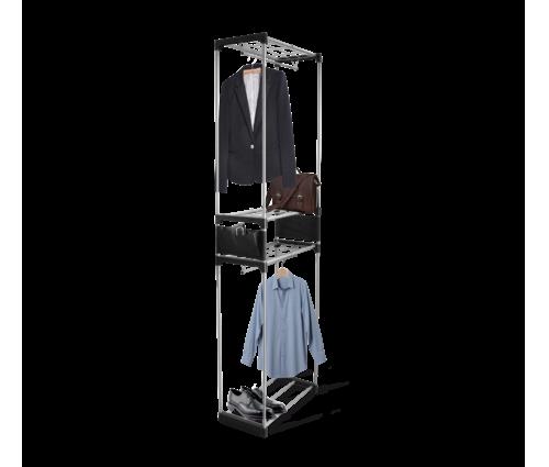Вешалка гардеробная, 4 полки, 2 штанги,