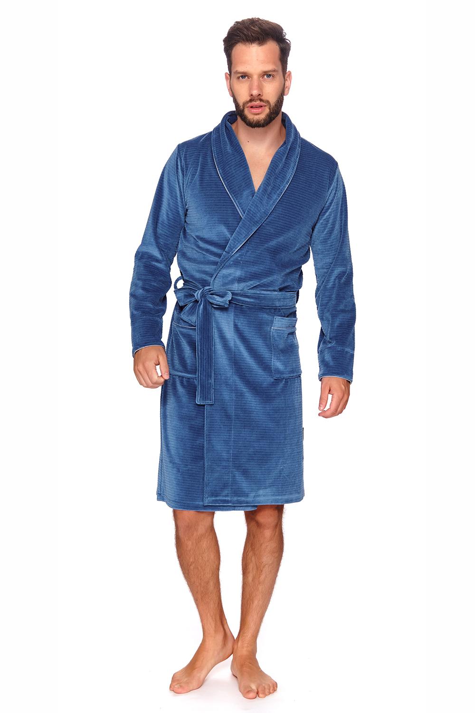 Домашний халат мужской Doctor Nap SMS.6063 синий 48