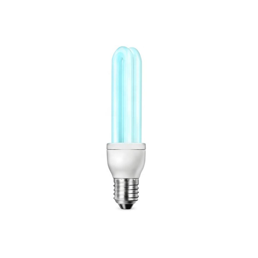 Кварцевая бактерицидная ультрафиолетовая лампочка E27 15W