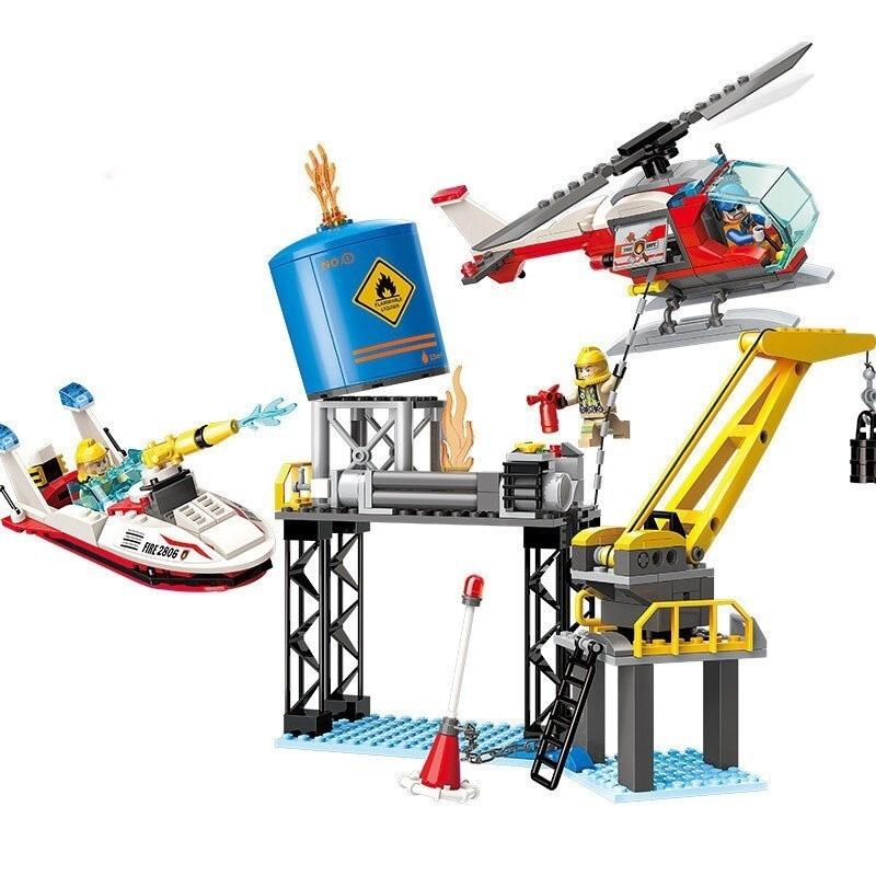 Купить Конструктор Enlighten Brick (Qman) Пожарная станция, с фигурками, 321 деталь,