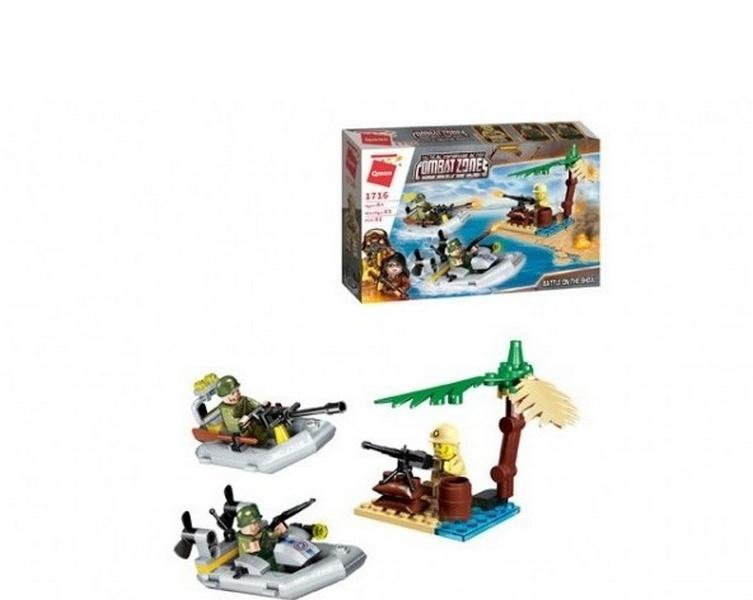 Купить Конструктор Enlighten Brick (Qman) Военные лодки, с фигурками, 92 детали,